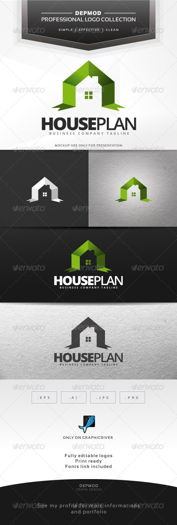 GraphicRiver House Plan Logo 7045721