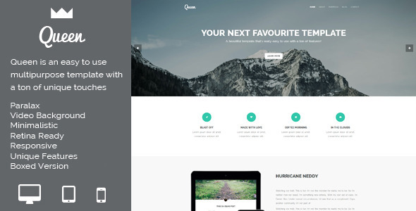 Queen - Multi-purpose HTML template - Creative Site Templates