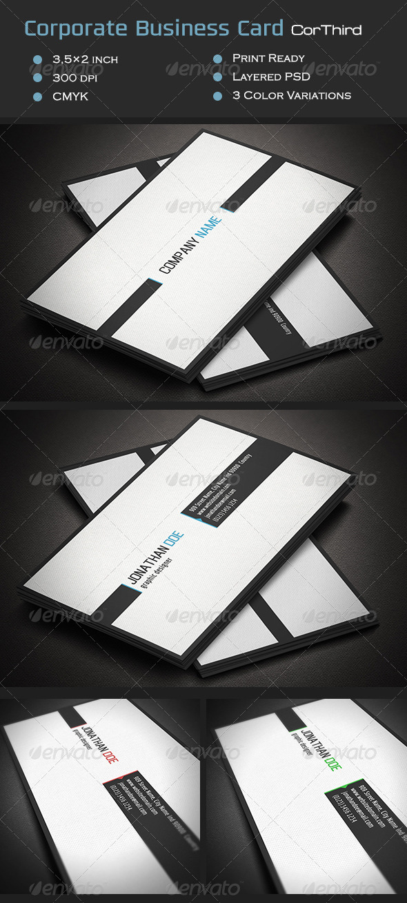 GraphicRiver Corporate Business Card CorThird 7045994