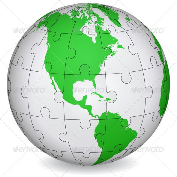 GraphicRiver Cartographic Puzzle of America 7025680