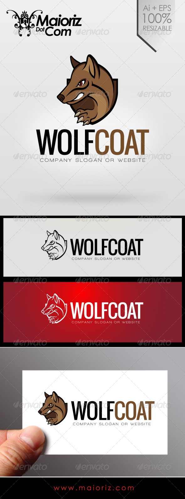 Wolf Coat Logo - Animals Logo Templates
