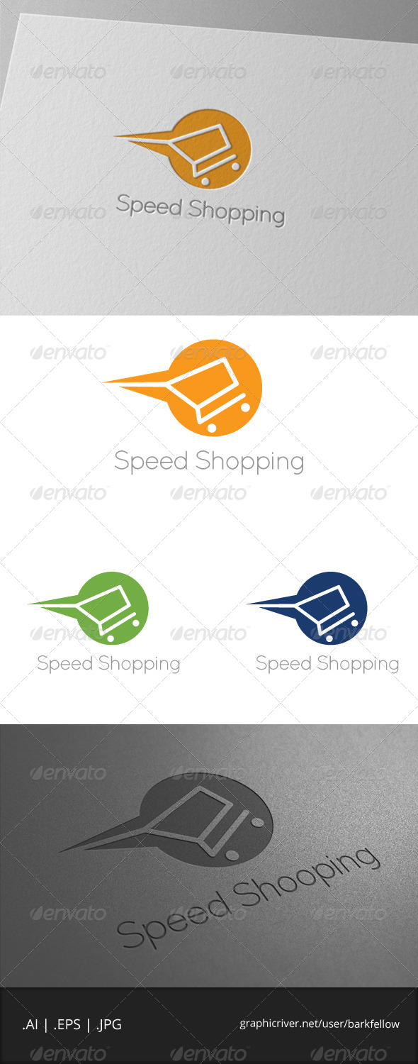 GraphicRiver Speed Shopping Logo Template 7046179