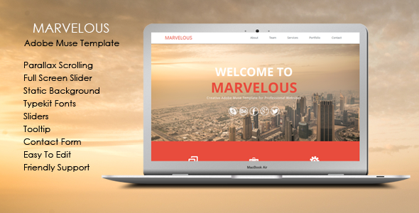 ThemeForest Marvelous Multi-purpose Muse Template 7046225