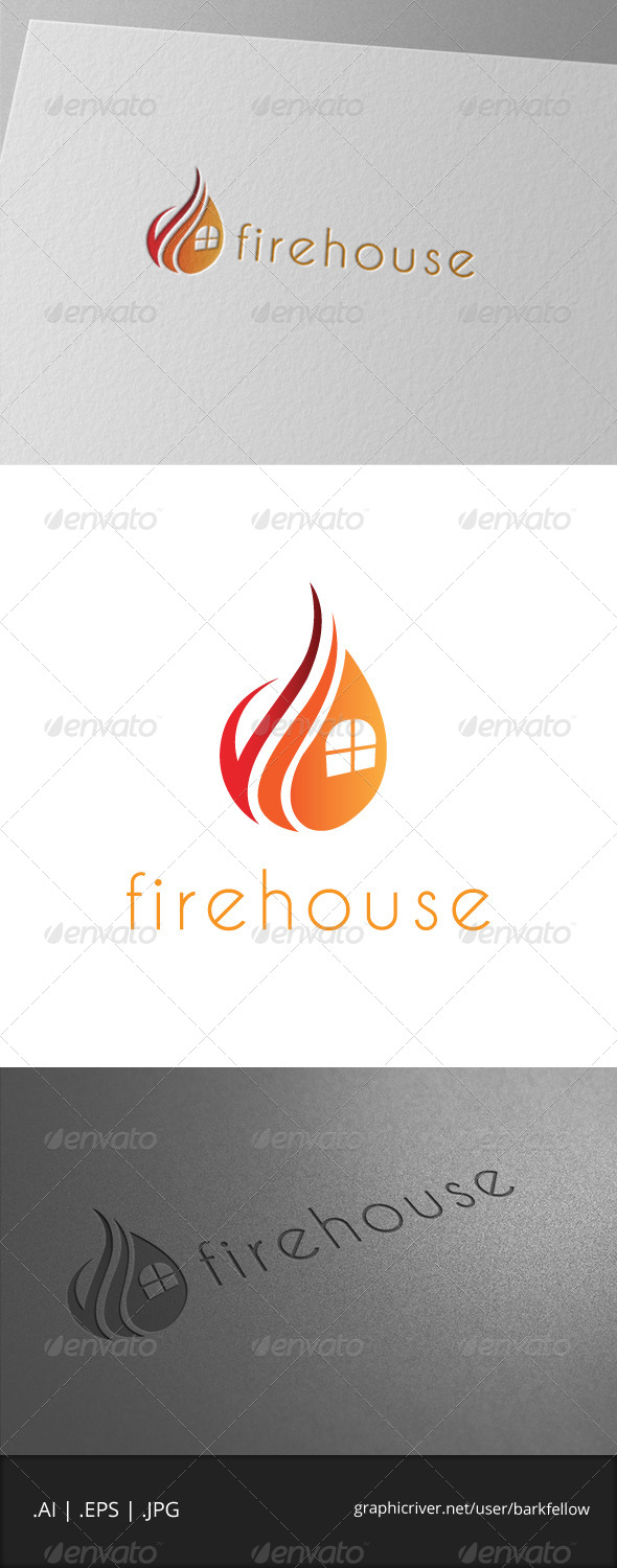 GraphicRiver Fire House Logo Template 7046235