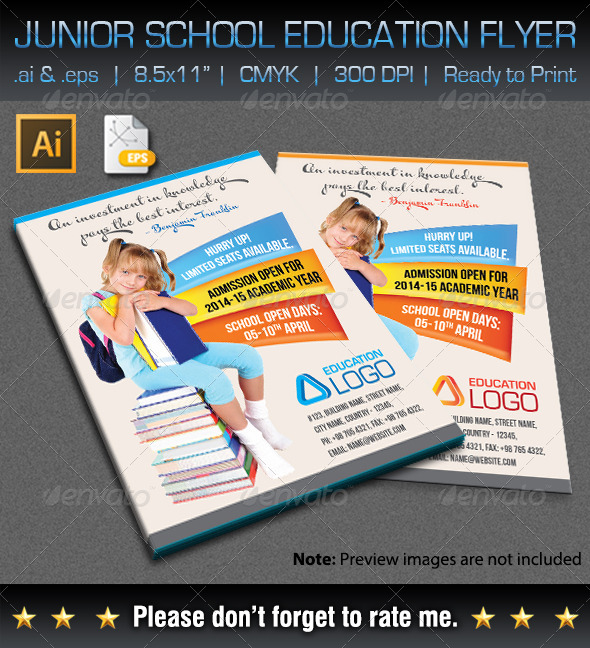 GraphicRiver Junior School Education Flyer 7046246