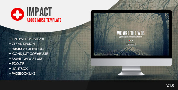 Impact | One Page Muse Template - Corporate Muse Templates