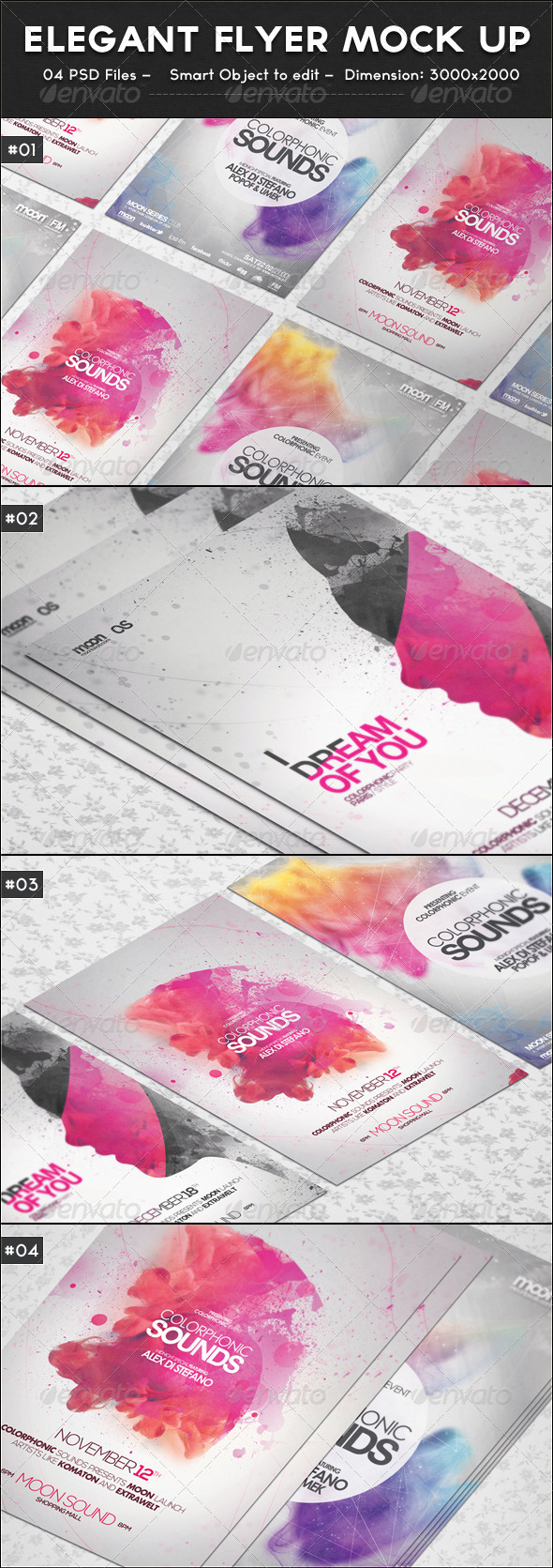 GraphicRiver Elegant Flyer Mock up 7046315