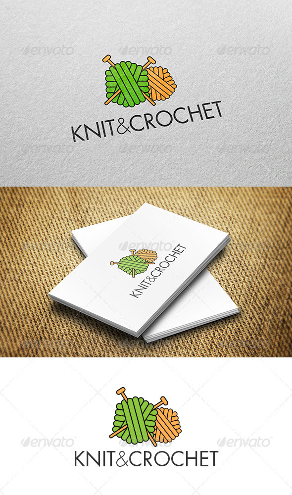 Logo Crochet : Knitting Crochet Logo - Objects Logo Templates