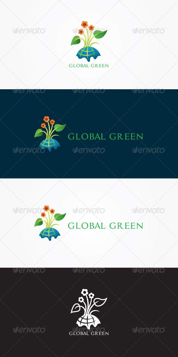 GraphicRiver Global Green Stock Logo Template 7046503