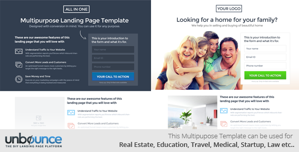 Blurb Unbounce ebook Landing Template