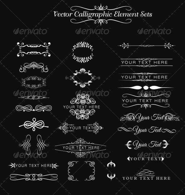 GraphicRiver Calligraphic Element Set 6997019
