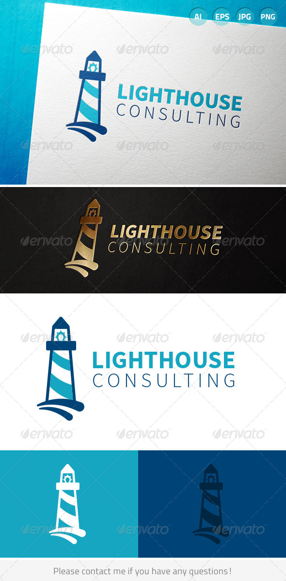 GraphicRiver Lighthouse Consulting Logo 7046730