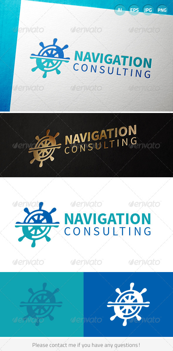 GraphicRiver Navigation Wheel Logo 7046936
