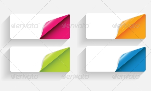 GraphicRiver Banners with Curled Corner 7047007
