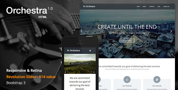 ThemeForest Orchestra Responsive HTML template 7047196