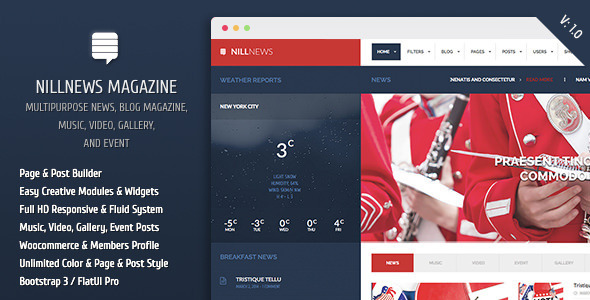ThemeForest Nillnews Multipurpose News and Blog Magazine 7029772
