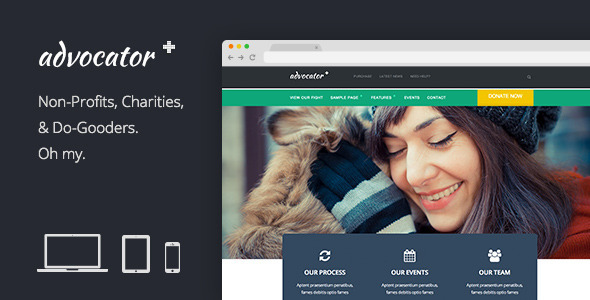 ThemeForest Advocator Professional Nonprofit Organizations 7006346