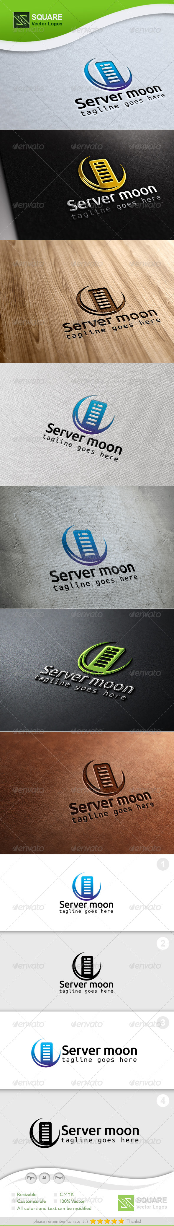 Server, Moon Vector Logo Template - Symbols Logo Templates