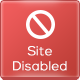 WordPress Site Disabled Page