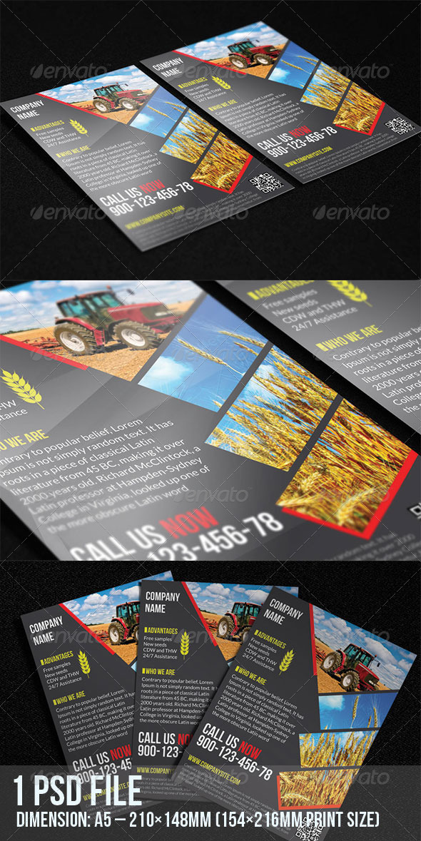 GraphicRiver Agriculture Flyer 7034745