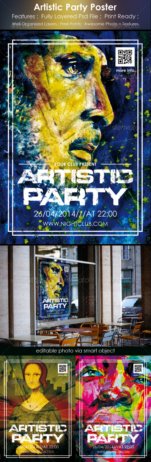 Artistic Party Poster - Events Flyers