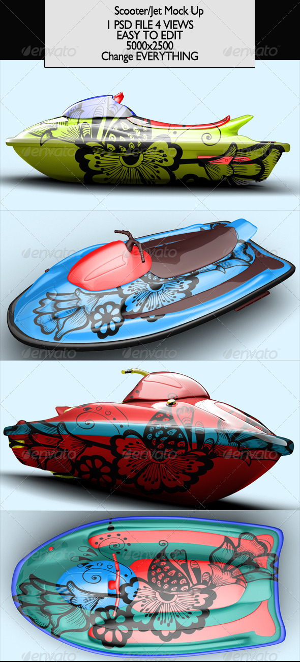 GraphicRiver Scooter Jet Jetski Mock-Up 7048270