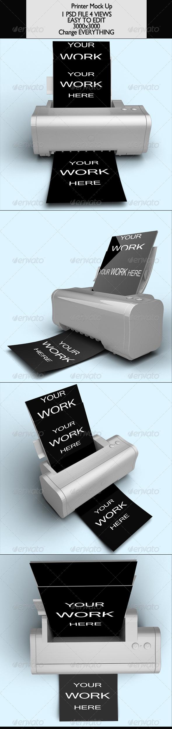 GraphicRiver Printer Vol 1 Mock-Up 7048275