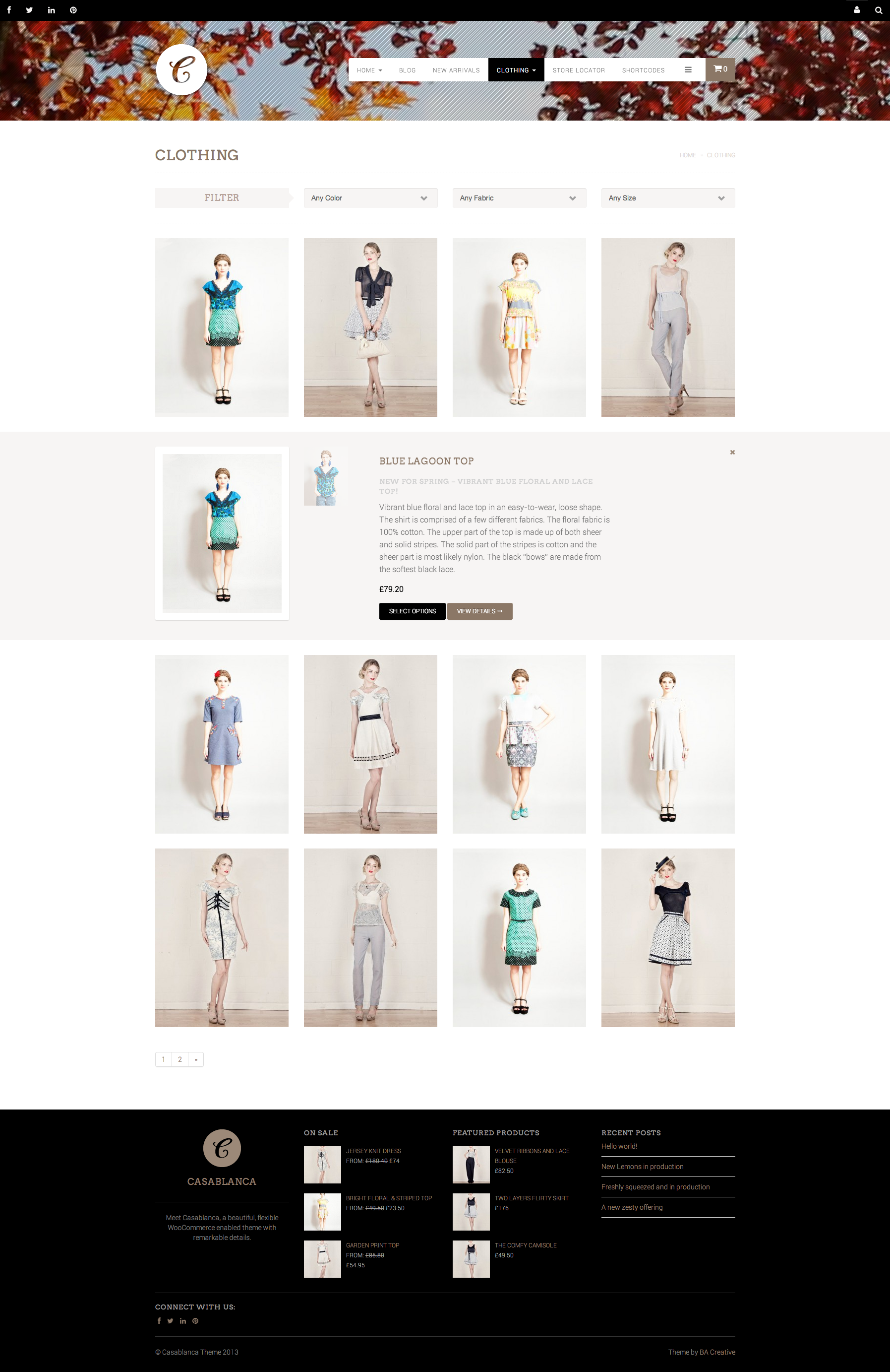 Casablanca Online Store With Background Video - WooCommerce 2.3.5