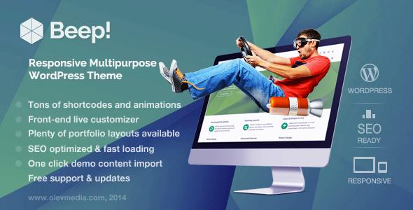 ThemeForest Beep Responsive Multi-Purpose Wordpress Theme 7025590