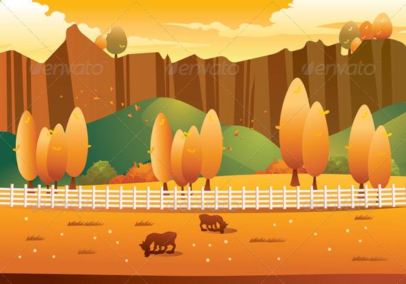Autumn Landscape Drawing Autumn Landscape