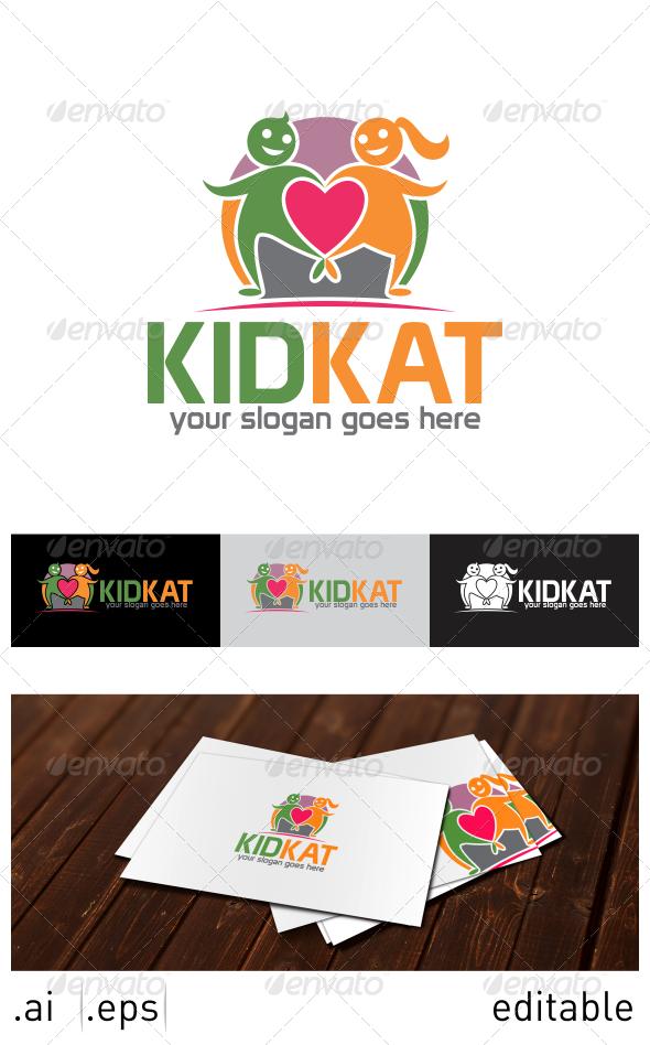 Kid Kat Logo Template