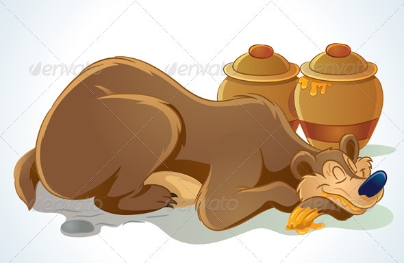 Sleeping Bear - Animals Characters