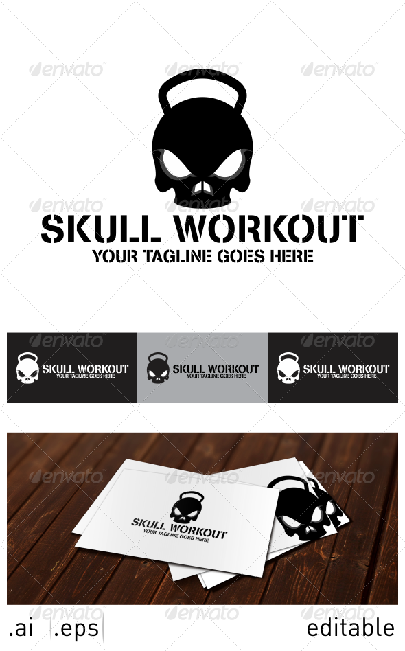 GraphicRiver Skull Workout Logo Template 7025308