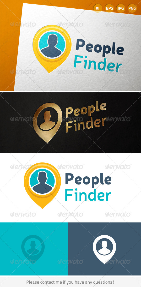 GraphicRiver People Finder Person Location Logo 7048520