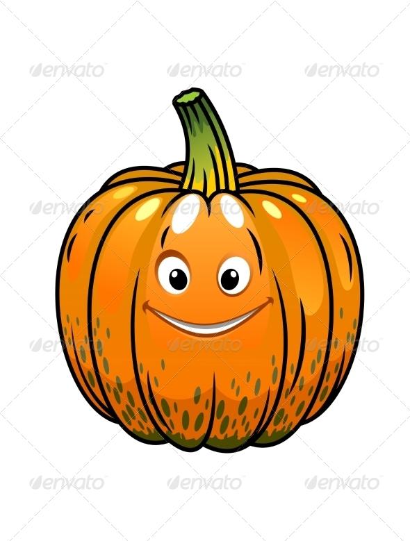 GraphicRiver Smiling Cartoon Fall Pumpkin 7048532