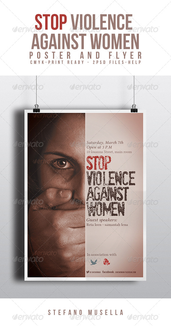 GraphicRiver Stop Violence Against Women 7048552