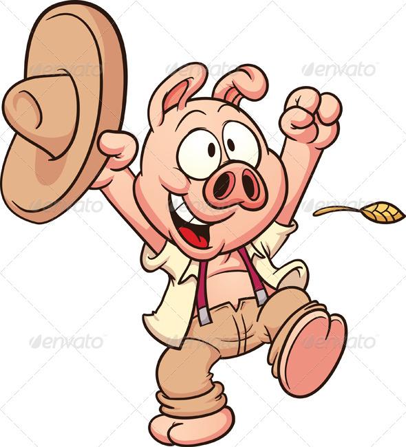 Happy Farmer Pig