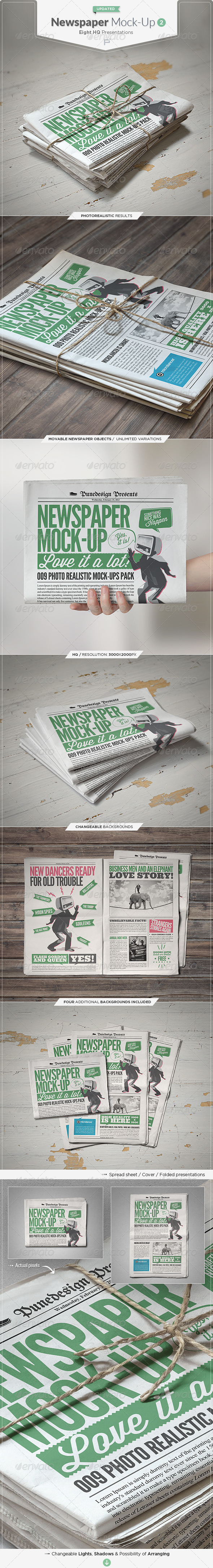 Newspaper / Newsletter Mock-Up - 2 - Miscellaneous Print