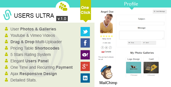 CodeCanyon Users Ultra a Powerful Users WordPress Plugin 7020793