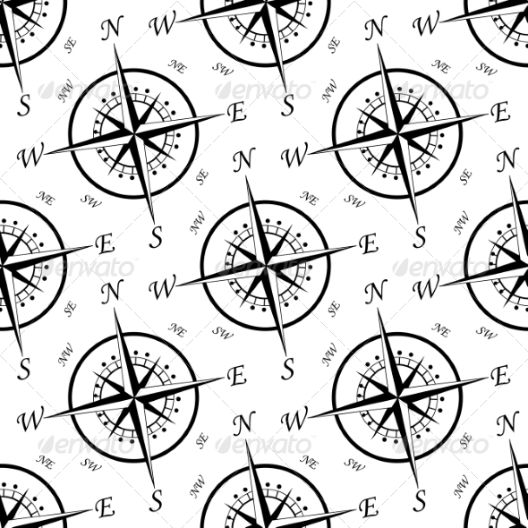GraphicRiver Vintage Compass Seamless Pattern 7049154