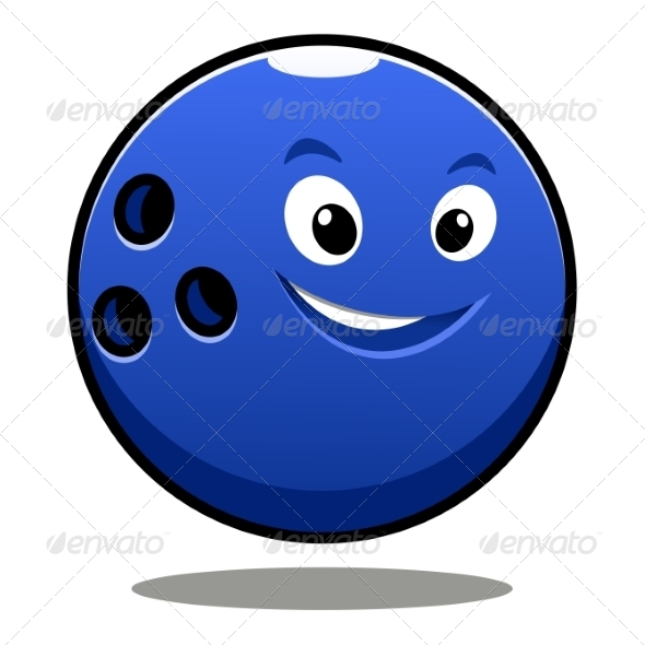 GraphicRiver Colourful Blue Cartoon Bowling Ball 7049157