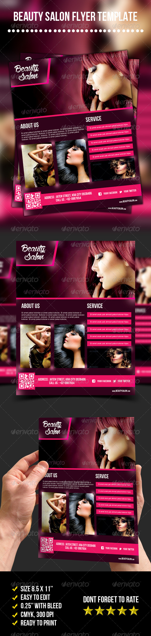 GraphicRiver Beauty Salon Flyer 7049193