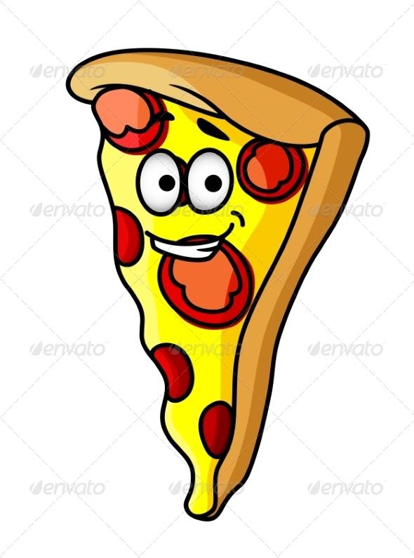 GraphicRiver Slice of Happy Cheesy Pepperoni Pizza 7049229