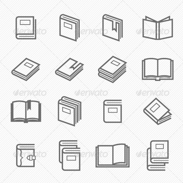 GraphicRiver Book Icons 7049306