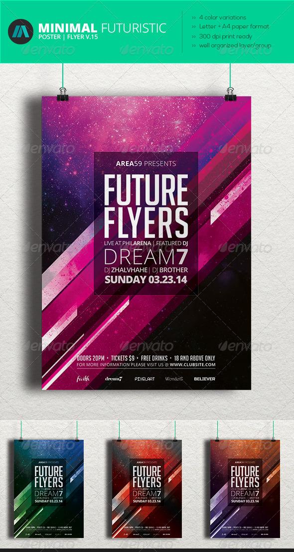 GraphicRiver Minimal Futuristic Poster Flyer V.15 7049348