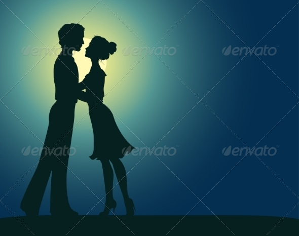 GraphicRiver Silhouettes of Man and Woman 7049355