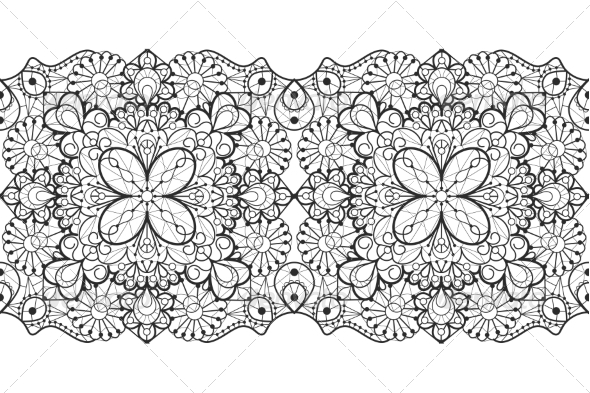 GraphicRiver Seamless Lace Ribbon 7049367