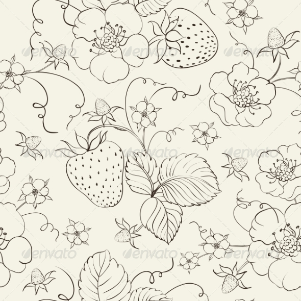GraphicRiver Strawberry Pattern 7049403