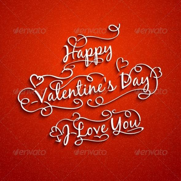 GraphicRiver Set of Valentine s and Wedding Typography 7049475