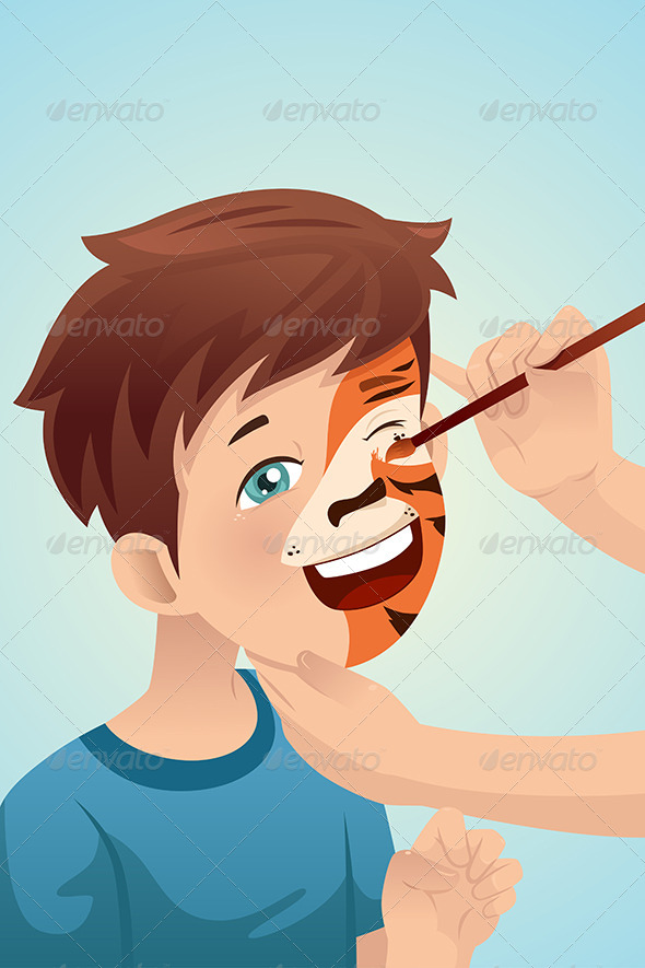 GraphicRiver Boy having his Face Painted 7049492